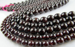 Wholesale 6mm Natural stone A garnet beads scattered beads jewelry accessories
