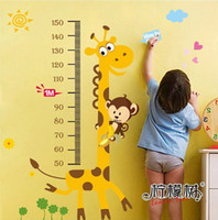 Wholesale 24 quot quot Children s Height wall sticker cartoon decals for walls vinyl removable decal
