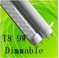 T8 9w SMD 3528 Dimmable G13 2 Foot 900Lm 9W T8 Led Tube Light White 144 Leds LED Fluorescent Lamp 85-265V