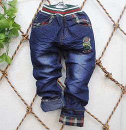 Wholesale Children s clothes Boy s cowboy pants Kids stone mill sand washing soft cowboy Christmas gift