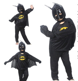 Wholesale Children Batman suit Halloween performances costumes masquerade role play clothing g