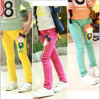 Girl baby footed pants - Kids Leggings new Korean fashion stretch pants feet girls pencil pants