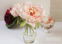 Wholesale 30x Artificial flower fake Silk Peony flowers for housing decoration DIY centerpiece in