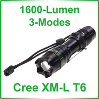 Wholesale Nice UltraFire Cree XM L T6 LED Lumen Modes Adjustable Flashlight x x AAA Battery