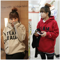 Wholesale New hot sale Korean Women s Hooded Cotton Wild Thick Warm Hoodies amp Sweatshirts