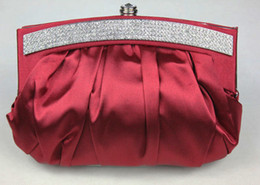Wholesale New Arrival Stylish Ruffle Women s Evening Bag Handbags Purses Wedding Bridal Bags D157