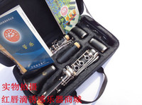 Wholesale Professional clarinet Bb Ebony Clarinet Keys nickel silver Free Case