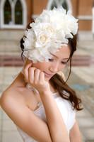 Wholesale Wedding dress accessories flower head neck flower bridal hair accessories bride headdress flower