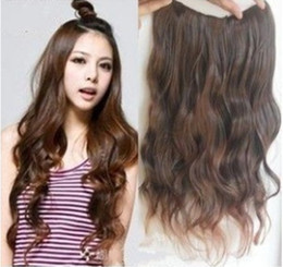 Wholesale best selling hair extensions clips hair pieces long wave Synthetic wig piece colors available