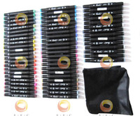 80-color set art teachers - Color Shinhan Touch Sketch Marker Set bagged Bargain Touch Twin Marker pen to office work and school students teachers