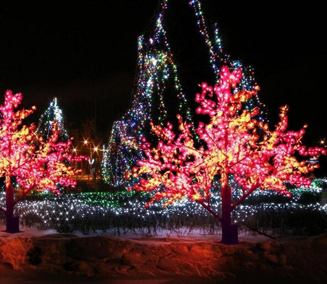 String Xmas Lights Outside Tree : 2017 2m Led Landscape Tree Light Christmas Simulation Maple Tree Lamp Xmas Party Wedding Outdoor ...