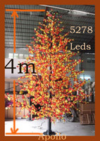 Wholesale LED Maple Christmas Tree Light m Xmas Tree Lamp Landscape Party Outdoor Fairy String light