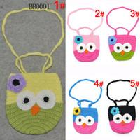 Hangbags crochet bag - baby Kids Handmade Crochet Cute Owl Bag Crochet Children Owl Bag Baby Knit Purse Aminal oranegcompa