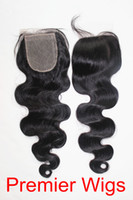 "14 Natural Color 3.5 Silk Base Lace Closure 3.5x4"" Brazilian Virgin Hair Body Wave 14""-20"" Natural Color Free Shipping"