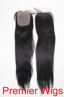"14 Natural Color 3.5 Silk Base Lace Closure 3.5x4"" Brazilian Virgin Hair Light Yaki 14""-20"" Natural Color"
