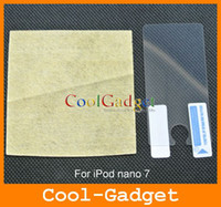 Wholesale Clear Screen Protector Film Guard Skin Case Cover for iPod nano no Retail Package MSP536