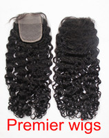 "14 Natural Color 3.5 Silk Base Lace Closure 3.5x4"" Brazilian Virgin Hair Curly 14""-20"" Natural Color"
