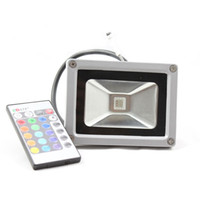 Wholesale 10W LED RGB Remote Control LED Flood Lights V Waterproof Wash Lamp L117