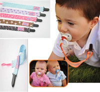 Wholesale Anti pacifier baby pacifier clip drop resistant belt pacifier chain Colorful Cartoon pc