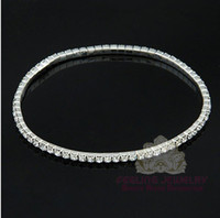 Wholesale Fashion MIC Silver Plated Fresh Full Clear Rhinestone Circle Spring Anklets Stretchy Tennis Anklets White Crystal Anklets