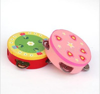 Wholesale Wooden Toys Children toys small bell drum baby toys toy Musical Instruments