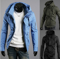 Men new design men jacket - hot New Men s Jackets Outerwear Coats Fashion Men Jacket Arm Zipper Design Male high collar Slim Jacket Men s Clothing Apparel