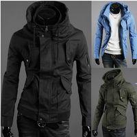 Jackets new design men jacket - HOT New Men Jacket Arm Zipper Design Male high collar Slim Jacket
