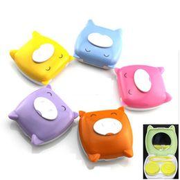 Wholesale Contact Lens Case Set Cute Pig Design Lens Portable Case Soaking Storage QQTJJ1189