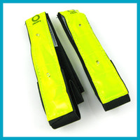 Wholesale Reflective Led arm bands with led lights for jogging skiing cycling