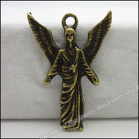 Wholesale Cute Angel Charms Pendants Antique bronze zinc alloy Metal Necklace DIY Jewelry Craft