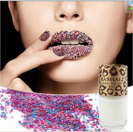 Wholesale New hot Fashion trend Caviar manicure Rainbow color Caviar beads Caviar nail polish