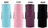 Travel Makeup Set Goat Hair Woody 7 Pieces=1set Professional makeup tools Cosmetic Brush Set Kit Tool With cylinder box