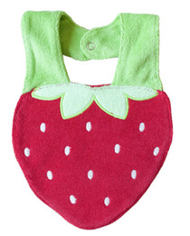Wholesale strawberry babys bibs layers Waterproof Bibs Cotton Animal cartoon Bibs Towel bibs