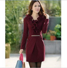 Wholesale 2012 Autumn Fashion Long sleeve dresses Casual Dresses Women s Dress Women s Primer skirt SL6086