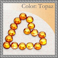 Wholesale Topaz Diamond Costume Decoration SS20 mm Hotfix Flat Back Rhinestones Beads