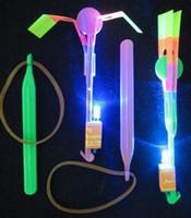 Wholesale Blue Light Flashing LED Flying Toy Christmas kids toys LED amazing arrow Flying helicopter DHL free