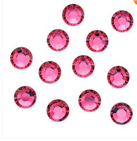 Wholesale Pink Crystal Costume Decoration SS10 mm Hotfix Flat Back Rhinestones Loose Beads