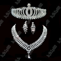Wholesale New Beautiful Bridal Collection Jewelry Wedding Earring Wedding Necklace bridal accessories