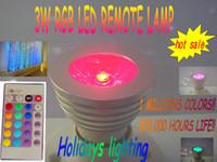 Wholesale IR remote pad W LED RGB spotlight Memory Color Change input V V W RGB LED bulb