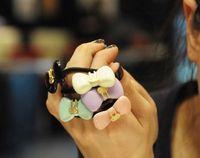 acrylic headband holder - Christmas Gift Hair Accessory Hair Accessory Candy Color Acrylic Rabbit Bow Headband