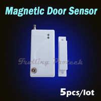 Wholesale 5pcs Extra Door window Magnetic Sensor for Wireless GSM PSTN Alarm System Security Accessories