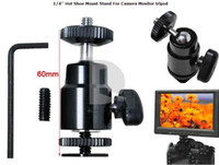 Wholesale 1 Hot Shoe Mount Stand For Camera Monitor tripod D2C Hotshoe Mini Ballhead Stand