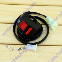 Wholesale 10A Motorcycle Bike Handlebar Accident Hazard Light Switch Outlet ON OFF Button