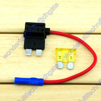 Wholesale 20A Regular Blade Fuse Tap Holder Add A Circuit Line ATO ATC APR Car Motorcycle