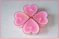 Wholesale Cheap Pink Heart shaped Scented Candles Wedding Romantic Unity Candle Birthday Floating Candles