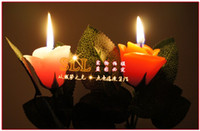 Wholesale Cheap Colorful Rose Scented Candles Wedding Romantic Unity Candle Birthday Floating Candles