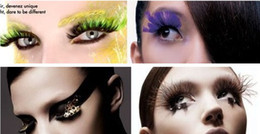 Wholesale Halloween Party Chrismas False Eyelashes Natural Curl Feather False Eyelash extensions MIX order