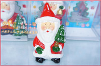Wholesale Cheap Santa Claus Scented Candles Discount Xmas Unity Candle Birthday Floating Candles Christmas