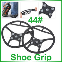 Wholesale Stainless Steel Tips Winter Shoe Grips Anti Slip Traction Device Cleats for Snow and Ice EU Size