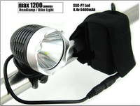 Wholesale SSC P7 Lumens L LED Bicycle HeadLight Bike HeadLamp v mAh Battery Pack Charger New